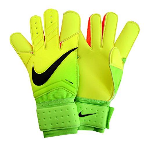 Nike GK Grip 3 Soccer Goalkeeper Gloves (Sz. 7) Electric Green, Volt, Black