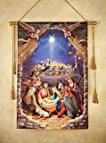 Collections Etc Lighted Nativity Scene Hanging
