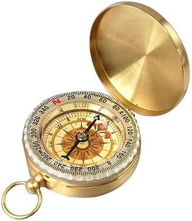 Aussel tradicional al aire libre Classic latón estilo reloj de bolsillo brújula para Camping/Senderismo/Viaje
