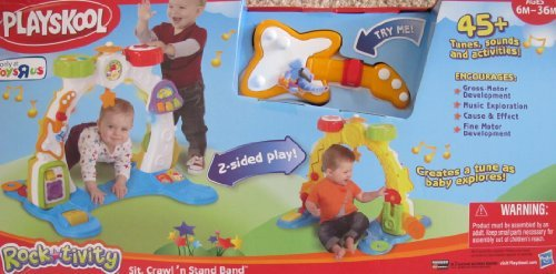 Playskool Rock*Tivity SIT, CRAWL 'n STAND BAND Playset w LIGHTS, MUSIC, SOUNDS & 20+ Activities TOYS
