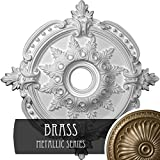 Ekena Millwork CM28BEBRS 28 3/8'' OD x 3 3/4'' ID x 1 5/8'' P Benson Classic Ceiling Medallion (Fits Canopies up to 6 1/2''), Hand Painted x x, Brass