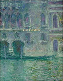 2019 planner claude monet weekly monthly view calendar organiser and journal with inspirational quotes goal trackers to do lists romantic art