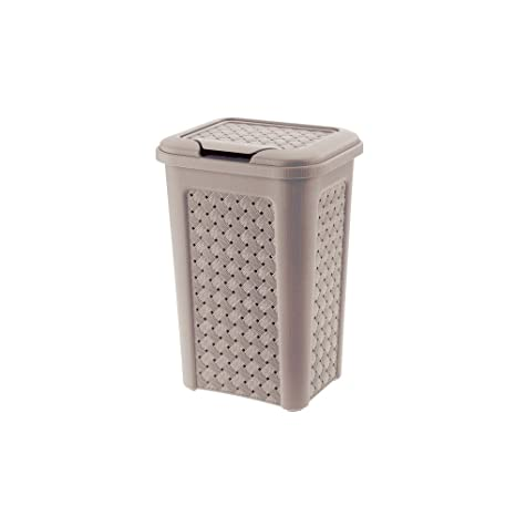 Tontarelli - Arianna Beautiful Bathroom Basket 10Ltr Suitable for Any Home - Grey Laundry Baskets at amazon