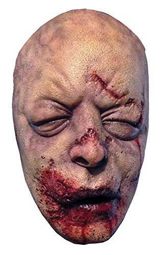 Dead Person Costume (UHC Men's Walking Dead Bloated Walker Scary Zombie Party Latex Halloween Mask)