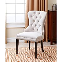 Abbyson Living Versailles Tufted Dining Chair, Ivory