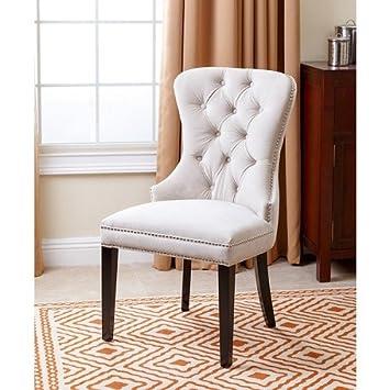 Fantastic Amazon Com Abbyson Living Versailles Tufted Dining Chair Ibusinesslaw Wood Chair Design Ideas Ibusinesslaworg
