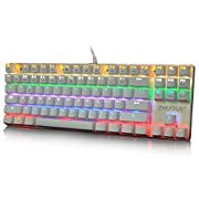 Amazon Lightning Deal 79% claimed: Hcman Teamwolf Zhuque Pure Alloy Panel Mechanical Gaming Keyboard [ Customize Switches ] Mechanical Keyboard, Mix Color Led Backlit, 7 Light Modes Office Keyboard