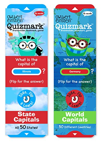 Re-marks State Capitals and World Capitals Quizmarks (Set of 2) (City Of Concord California)
