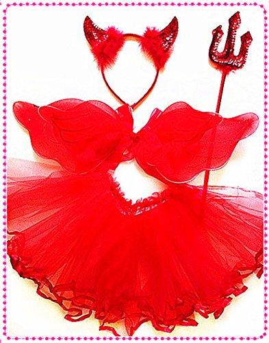 Girls Devil Tutu Costume (Devil Tutu Dress up Set)