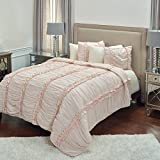 Rizzy Home QLTBQ4174IE009092 Quilt, Petal Pink, Queen