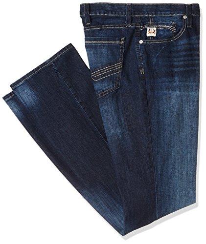 Cinch Men's Ian Slim Fit Jean, Dark Stonewash Zig Zag, 34 x3