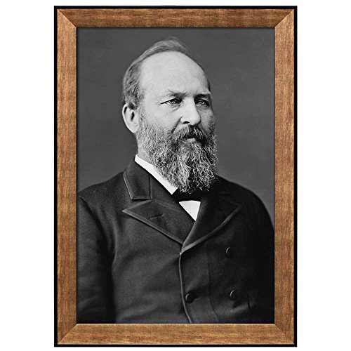 Portrait of James Garfield (20th President of the United States) American Presidents Series Framed Art Print
