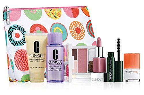 New! 2016 Clinique 7-PC Skincare Makeup Gift Set - Sassy Choice, $70 Value