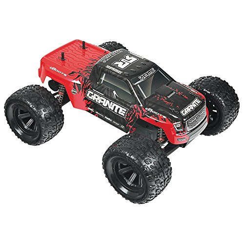 ARRMA 1:10 Scale RTR Remote Radio Control Car: GRANITE MEGA 2WD Electric RC Monster Truck with 2.4GHz Radio, Servo, ESC, Brushed Motor, 7.2V 2000mAh NiMH Battery, and Charger -  Hobbico Inc, AR102604