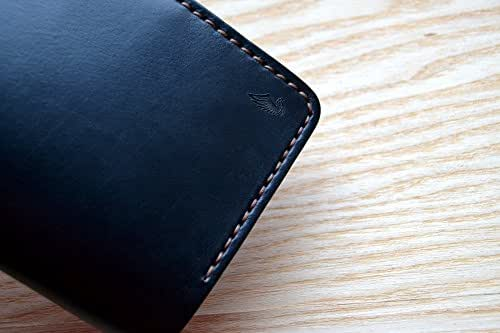 Black Passport and Field Notes wallet in Horween Horse leather | Cover Journal Notebook Vanguard Cahier sleeve