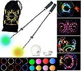 LED Poi - Glow Poi - Multi Function LED Glow Poi by Flames N Games (20 Settings) +Travel Bag!