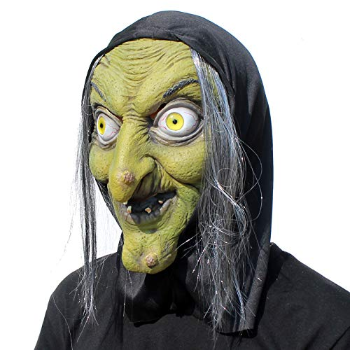 PartyHop - Old Woman Witch Mask - Halloween Scary Horror Cosplay Costume -