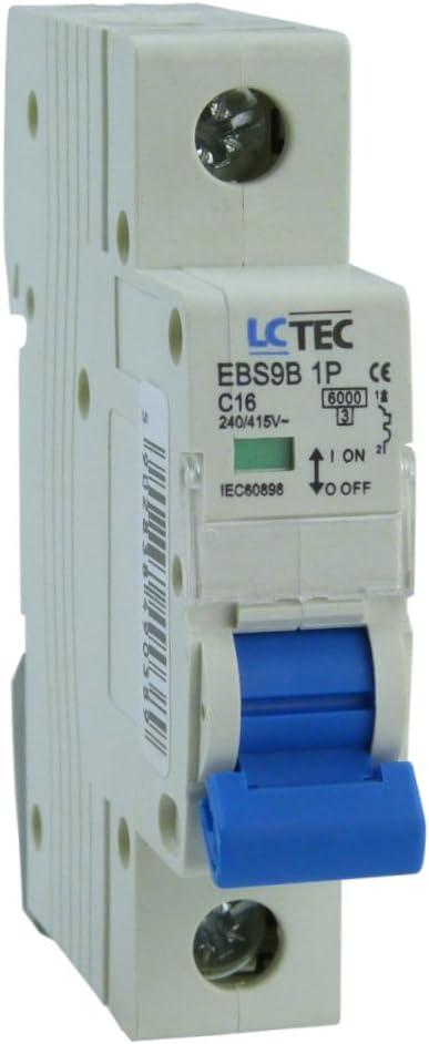 LC TEC C16 6kA 1-Polig Leitungsschutzschalter C16A 1P 0389