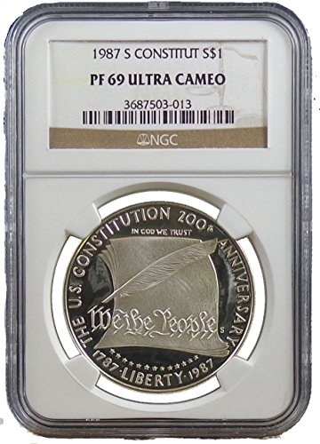 1987 S Constitution Commemorative Silver Dollar NGC PF69