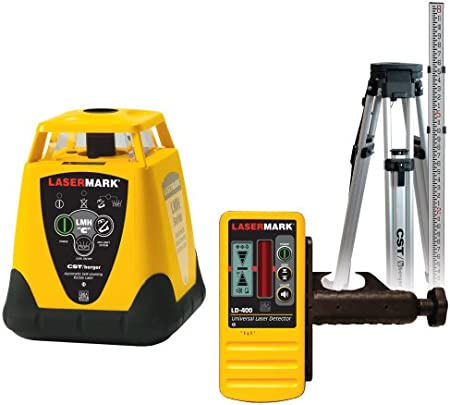 Cst Berger 57 Lmh Cupk Electronic Self Leveling Horizontal Single Beam Rotary Laser Level Complete Package With Tripod Rod And All In One Carrying Case Amazon Com