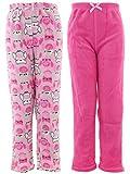 Chili Peppers Big Girls' Pink Owl 2-Pack Pajama Pants XL/14-16