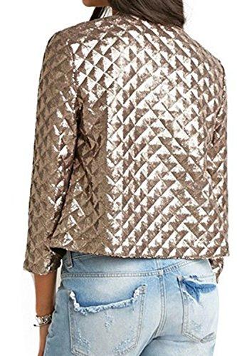 Zip Intorno Giacche Autunno Moda Le Casual Al Oro Collo Alla Outwear Donne OnqZOYp