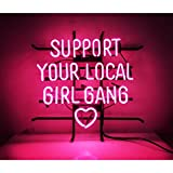 New Handcraft Support Your Local Girl Bang Real Glass Dsiplay Neon Sign19inx15in