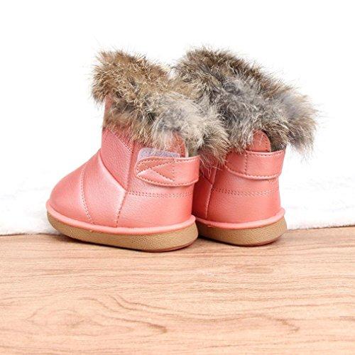 Baby Winter warme Stiefel,BeautyTop Winter Baby Kind Jungen Mädchen Stil Baumwolle Stiefel warme Schneeschuhe Rosa