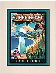 "2003 Buccaneers vs Raiders 10.5"" x 14"" Matted Super Bowl XXXVII Program - NF"