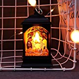 Nesee Halloween Pumpkin Light Lamp Door Room Decoration LED Lantern Party Home Props, Night Light Bedside Lamp As A Birthday Gift
