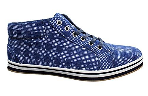 AK collezioni , Herren Sneaker blau blau 45 Blau