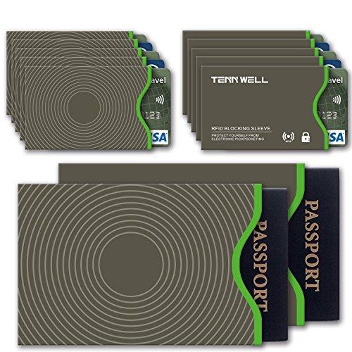 Tenn Well Secure Sleeve -RFID Blocking Sleeves Credit Card Debit Card ID &...