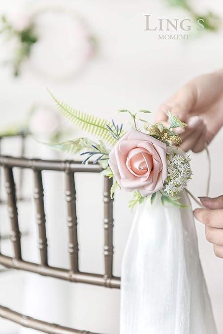Amazon.com: Ling\'s moment Wedding Ceremony Aisle Decorations Flower ...