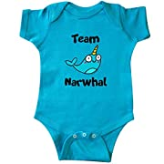 inktastic Team Narwhal Infant Creeper 12 Months Turquoise - Flossy and Jim