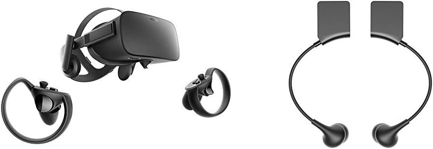 2ab6e2795bbd Amazon.com  Oculus Rift + Touch Virtual Reality System + Oculus Rift  Earphones Bundle  Video Games
