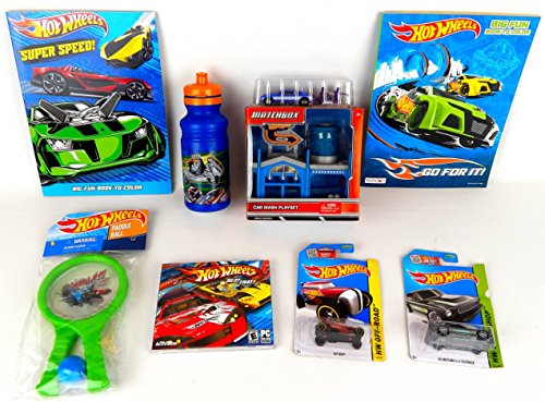 [Hot Wheels / Matchbox 8 piece Car Racing Computer Game Gift Set Bundle] (Car Wash Costume Ideas)