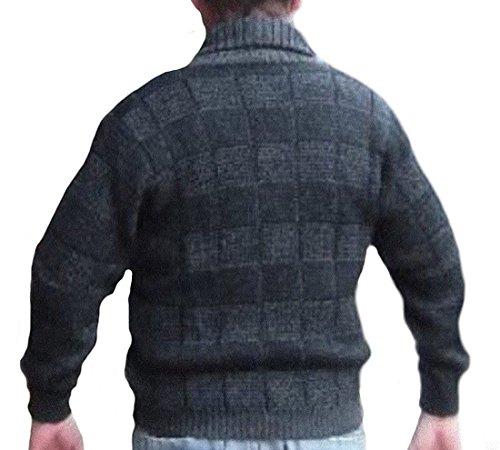 Alpakaandmore Men Sweater, Peruvian Alpaca Wool Pullover Green (Large) by Alpakaandmore (Image #1)