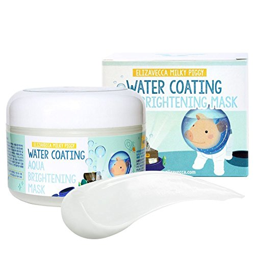 Salt Pig Cream - Elizavecca Milky Piggy Water Coating Aqua Brightening Mask, 3.4 Ounce