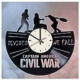 Winter Soldier Vinyl Clock Bucky Barnes Wall Art Gifts for Marvel Comics Fans Captain America Civil War Living Room Wall Decor -  STP Cat