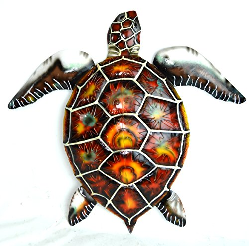 Tropical Turtle - BEAUTIFUL UNIQUE SEA OCEAN TURTLE METAL TROPICAL ISLAND WALL ART