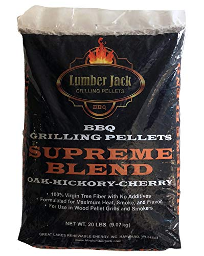 Lumber Jack Supreme Blend Maple, Hickory & Cherry BBQ Grilling Pellets – 20 lbs. by Lumber Jack