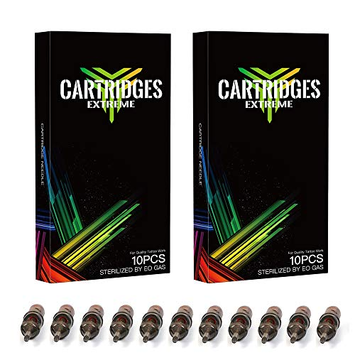 Dragonhawk 20Pcs Extreme Cartridges Disposable Tattoo Needle 15 Curved Magnum (15RM) ()