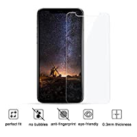 """iPhone X Screen Protector Glass [2-Pack], Siroflo 3D Round Edge Tempered Glass Anti-Scratch Screen Protector for Apple iPhone X [5.8""""inch] 2017 from Siroflo"""