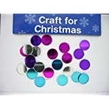Christmas Card Making - Round Mirror Blue/Silv/Purp/Fuchsia (24 pieces) by Christmas Craft