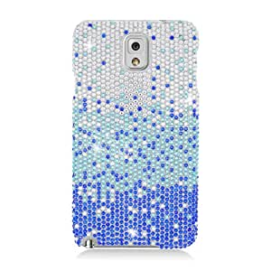 Eagle Cell Full Diamond Protector Case for Samsung Galaxy Note 3 - Retail Packaging - Blue Waterfall