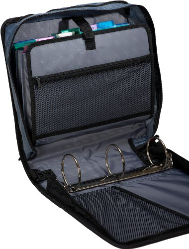 Case It Mighty Zip Tab 3 Inch Zipper Binder Black D 146