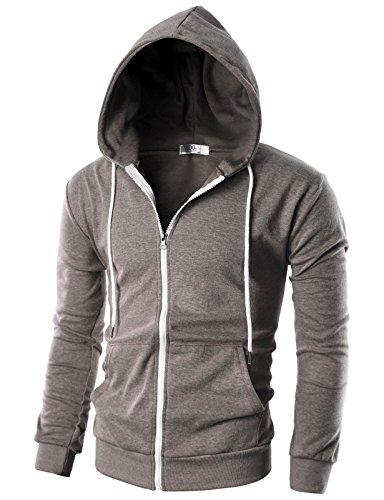 Ohoo Sleeve Lightweight Zip up Hoodie