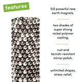 Speks Magnetic Balls - Duotone Greyscale Set of 512 (2.5mm) - Fun Stress Relief Desk Toy for Adults - Mashable Smashable Buildable