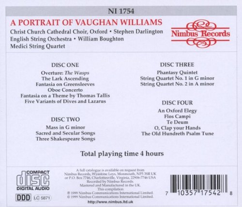 Portrait of Vaughan Williams / Various by Nimbus Records