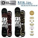 15-16 GRAY グレイスノーボード R.P.M Lion